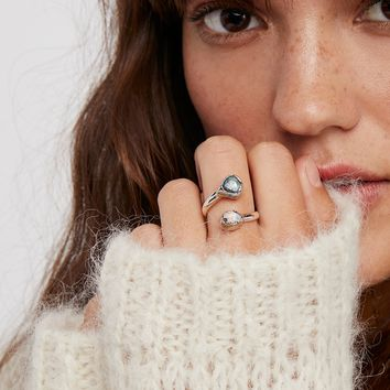 Handcrafted Double Stone Wrap Ring