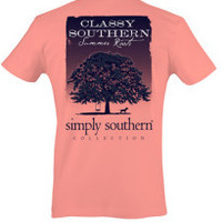Simply Southern Classy Southern Tee - Coral