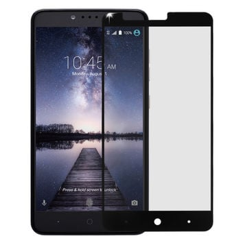 ZTE Zmax Pro, Blade X Max, Grand X MAX 2, ZTE Carry, Max Duo LTE, Imperial Max Premium HD Temper Glass Ultra Thin Scratch Free Screen Protector for ZTE Z981- Black
