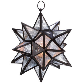 Bohemian Moroccan Style Decor Hanging Star Candle Holder Lantern