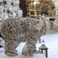 Lit Twig Polar Bear | Pottery Barn
