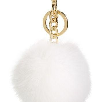MICHAEL Michael Kors Genuine Fox Fur XXL Bag Charm | Nordstrom