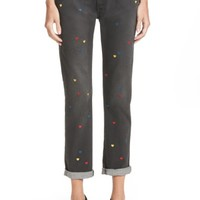 Stella McCartney Heart Embroidered Skinny Boyfriend Jeans | Nordstrom