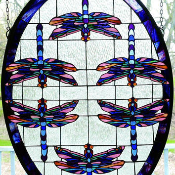 """0-030066>30""""h Dragonflies Oval"""