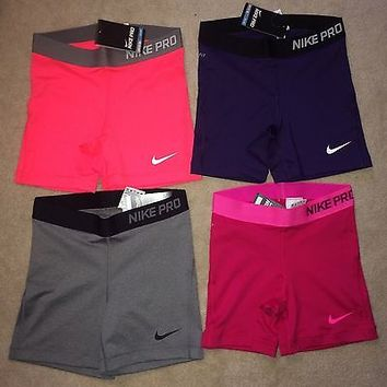 Nike Pro Core Compression Shorts Essential Spandex 5 Inch Length Yoga NWT