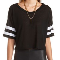 Cropped Varsity Tee by Charlotte Russe