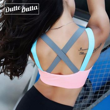 Women's Push Up Workout Yoga Sports Bra Gym Crop Top Academia Sport Bh Active Wear Fitness Women For Brassiere Female Sportswear