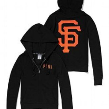 San Francisco Giants Bling Perfect Full Zip Hoodie - PINK - Victoria's Secret