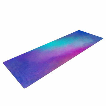 "Viviana Gonzalez ""ABSTRACT 02"" Purple Blue Yoga Mat"