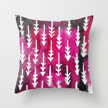 Red Arrows Throw Pillow by ashdesalvatoredesign