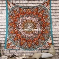 Indian Star Hippie Queen Mandala Psychedelic Bohemian Wall Hanging Tapestry art