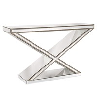"""X"" Frame Mirrored Console Table"