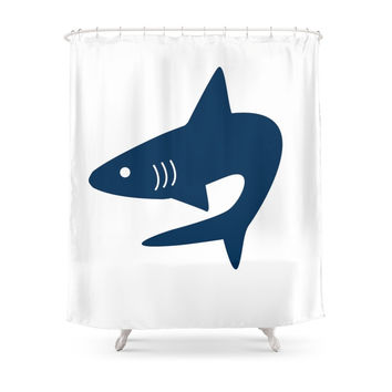 Society6 Shark! Shower Curtain