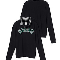 University of Hawaii Boyfriend Half-Zip - PINK - Victoria's Secret