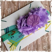Sea princess stretch headband~ perfect for most ages~ great photo prop