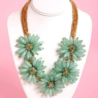 Pocketful of Posies Seafoam Statement Necklace