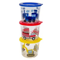 Jumping Beans Blue Kid's 3-pc. Melamine Snack Container Set