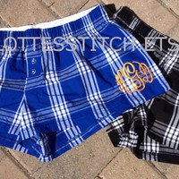 Monogrammed Tiny Boxers - Plaid Patterns
