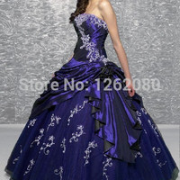 New Gothic Princess Ball Gown Beading Embroidery strapless Floor length Muticolor83 Quinceanera Dresses custom made Alternative Measures - Brides & Bridesmaids - Wedding, Bridal, Prom, Formal Gown