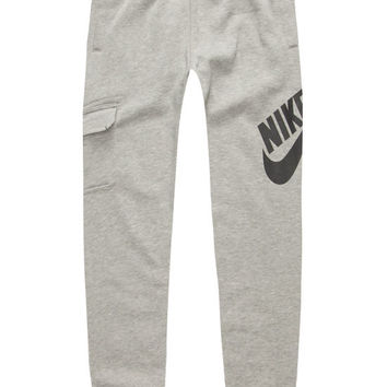Nike Sb Logo Boys Slim Sweatpants Heather Grey  In Sizes