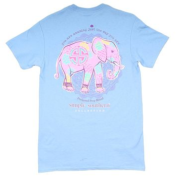 Preppy Elepine Tee in Blues by Simply Southern