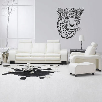 Wall decal vinyl art decor sticker design wild cat panther leopard puma jaguar lion animal speed living room mural (m1047)