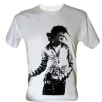 Lectro Men's Michael Jackson Mj King of Pop Legend T-Shirt V1