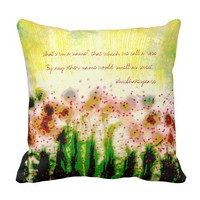 Abstract Art Garden Landscape Shakespeare Quote Throw Pillow