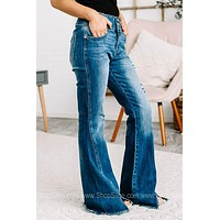 Strike A Pose High Rise Flare Jeans