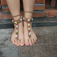 Dance Yoga Mittens Anklet Sandals B007688