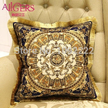 gold cushions velvet brand Luxury Pillow cushion Decorative ,silk decorative pillow,silver throw pillows european cushion cover
