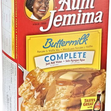 Aunt Jemima Pancake & Waffle Mix, Buttermilk Complete, 50 Serving Box
