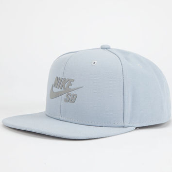Nike Sb Reflective Icon Mens Snapback Hat Grey One Size For Men 24423811501