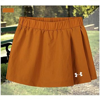 Under Armour Driving Skill Running Skirt Fitness Beach Beach Beach Yoga Pants Yellow