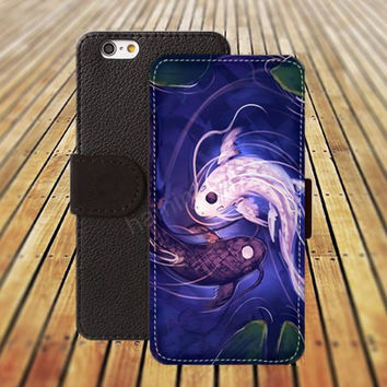 iphone 5 5s case Fish Yin fish dream colorful iphone 4/4s iPhone 6 6 Plus iphone 5C Wallet Case,iPhone 5 Case,Cover,Cases colorful pattern L449