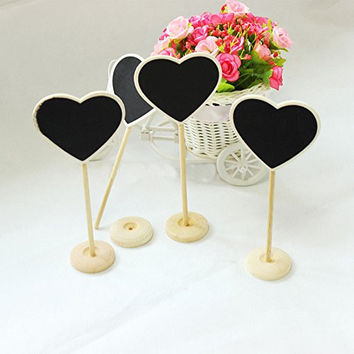 Saitec ® New hot New 12X DIY Mini Chalkboard Blackboards Signs On Stick Stand Place Holder Wedding Table Decoration Numbers Party Supplies