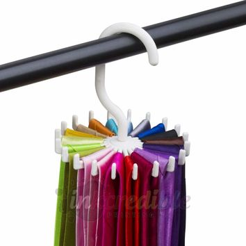 Rotating Tie Rack Adjustable Tie Hanger Holds 20 Neck Ties Tie Organizer for Men 644730636650