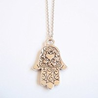 Empty Casket  — New Style Hamsa necklace