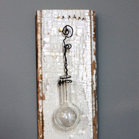 rustic wall vase hanging wired glass beaker