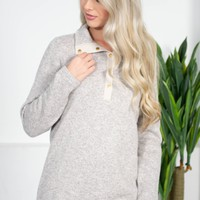 Charles River Pullover | Grey | Monogram