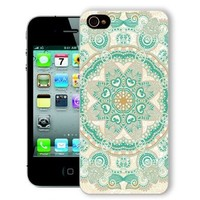 ChiChiC Iphone Case, i phone 4 4g 4s case,Iphone4 iphone4g iphone4s covers, plastic cases back cover skin protector,geometric orange green mandala