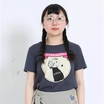 Print Couple Lovely Cartoons Vintage Tops T-shirts [8069798919]