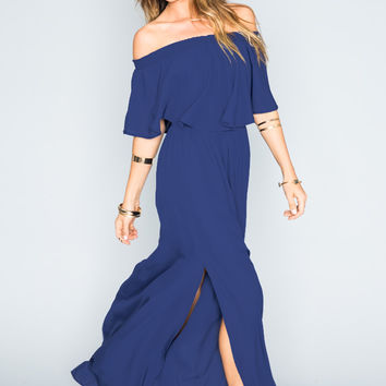 Show Me Your mumu Hacienda Maxi Dress ~ Navy