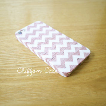 Wood Chevron iPhone 5 Case, iPhone 5s Case, Wood iPhone 5 Cover, Unique Apple iPhone5 Case, Cute iPhone 5 Cases - White Chevron
