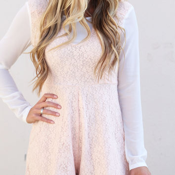Forever Yours Romper {Blush}