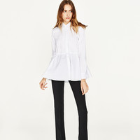 PIN TUCK POPLIN TOP DETAILS
