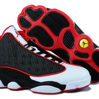 Air Jordan 13 Retro Basketball Shoes White/black/red