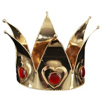 Mini Queen of Hearts Costume Crown - Adult (Red/Gold)
