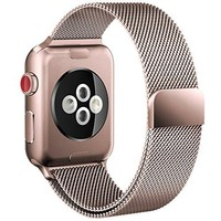 Prime Time Apple Watch Band – Stainless Steel Alloy 38mm Mesh Replacement Straps for Smart Watches & iWatch, Magnetic or Butterfly Closure