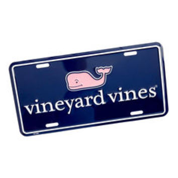Whale Shop: vineyard vines Logo License Plate - Vineyard Vines